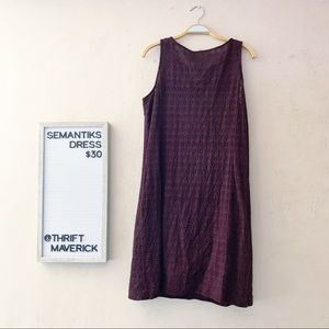 Wine Colored Eyelet Sheath Dress | Semantiks